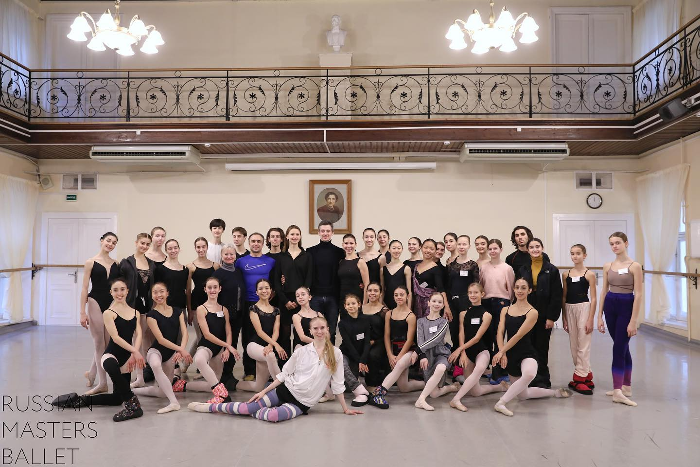 RMB in Marius Petipa studio at the Vaganova Ballet Academy